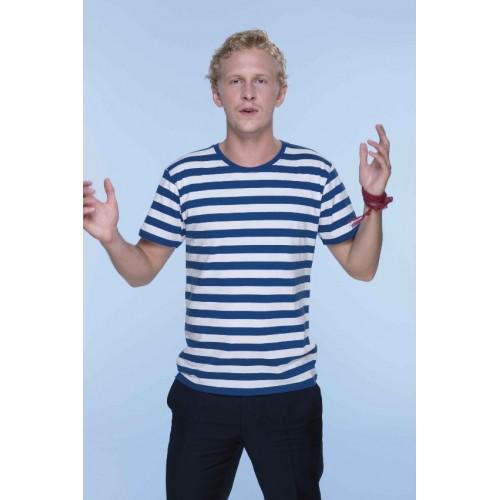 Pruhované tričko Bílo-modré - pánské