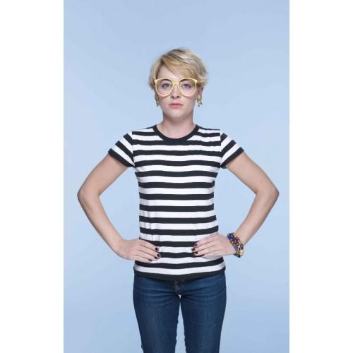 Pruhované tričko Bílo-černé - dámské