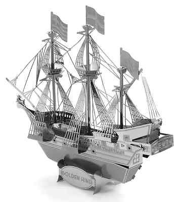 3D ocelová skládačka loď Golden Hind