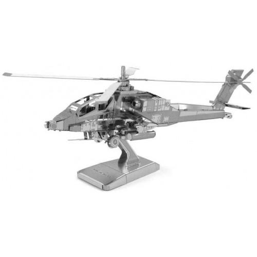 3D ocelová skládačka vrtulník Apache