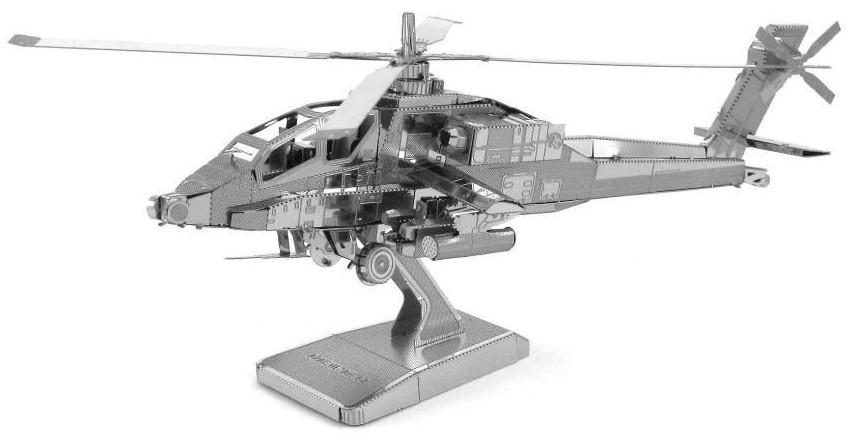 3D ocelová skládačka vrtulník Apache AH-64