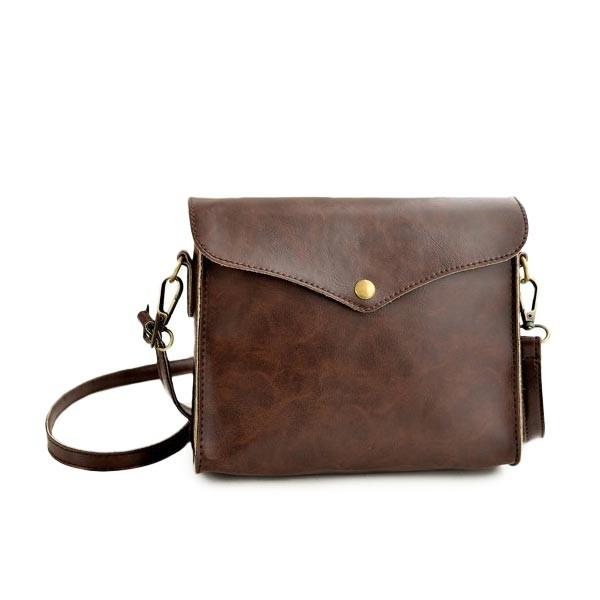 Jednoduchá dámská Steampunk kožená taška
