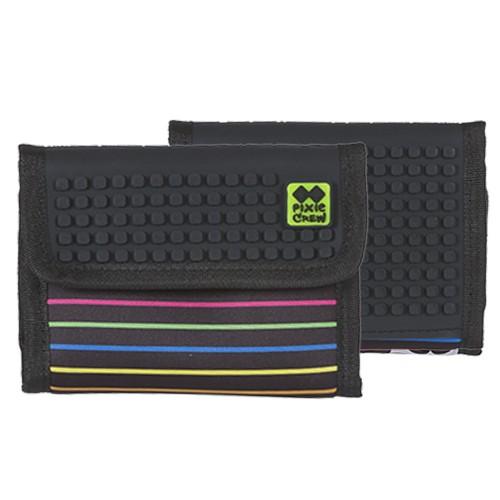 Kreativní pixelová peněženka barevná pírka