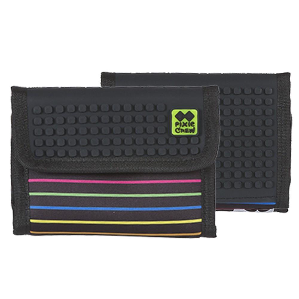 Kreativní pixelová peněženka barevné proužky