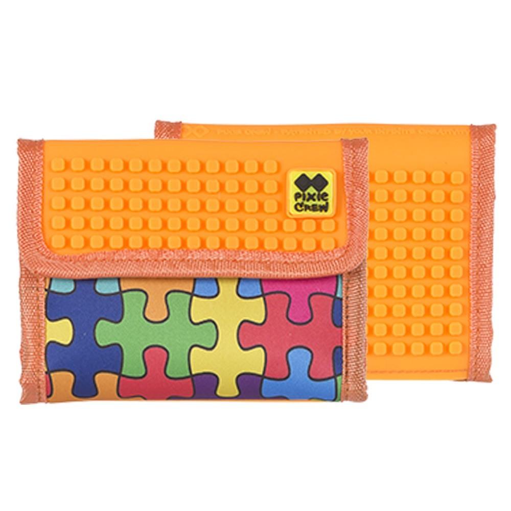 Kreativní pixelová peněženka barevné puzzle