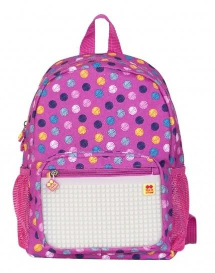 Dětský kreativní pixelový batoh barevné puntíky/svítící ve tmě