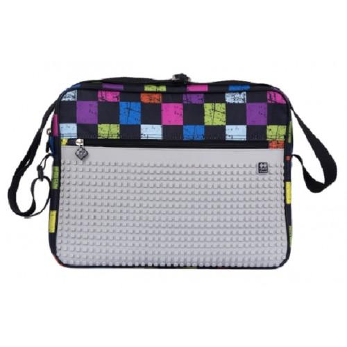 Kreativní pixelová taška přes rameno barevná kostka