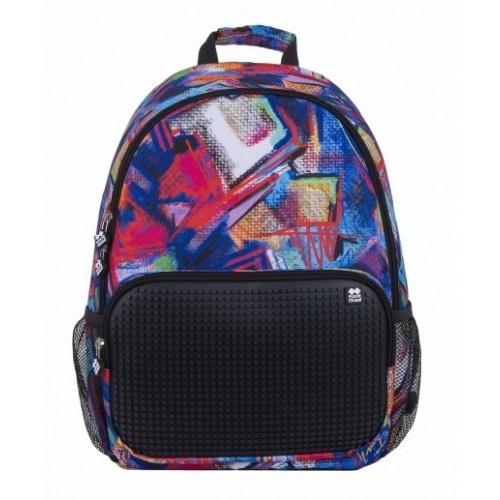 Kreativní pixelový batoh vícebarevný/černý