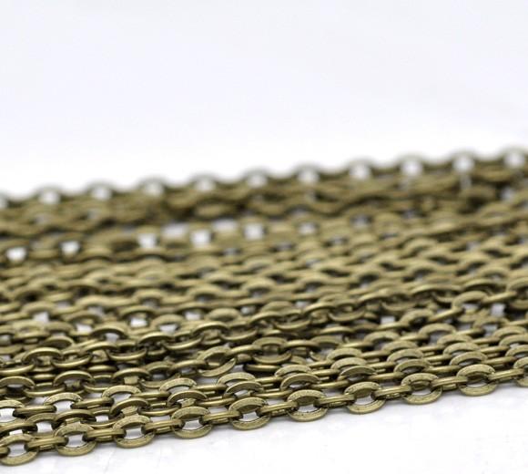 Náhradní řetízek na krk 50 cm, zapínací - Bronz