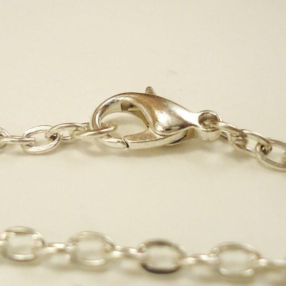 Náhradní řetízek na krk 50 cm, zapínací - Stříbrná
