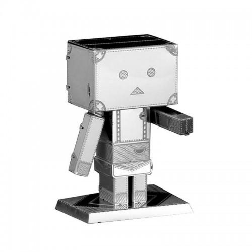 3D ocelová skládačka retro Robot