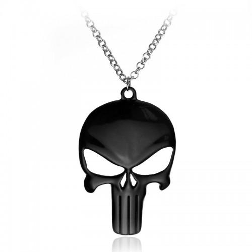 Náhrdelník Punisher - černý