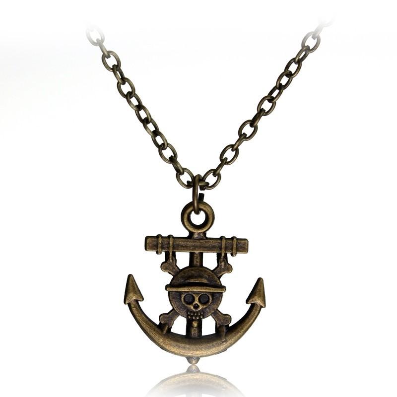 One Piece Luffy kotva náhrdelník