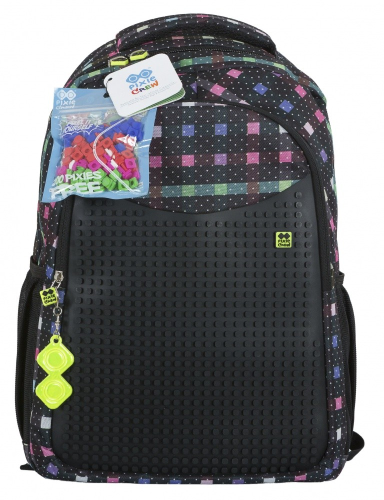 Školní kreativní pixelový batoh jemná barevná kostka