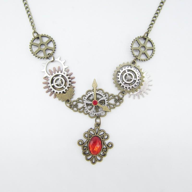 SteamPunk náhrdelník Kapka Krve