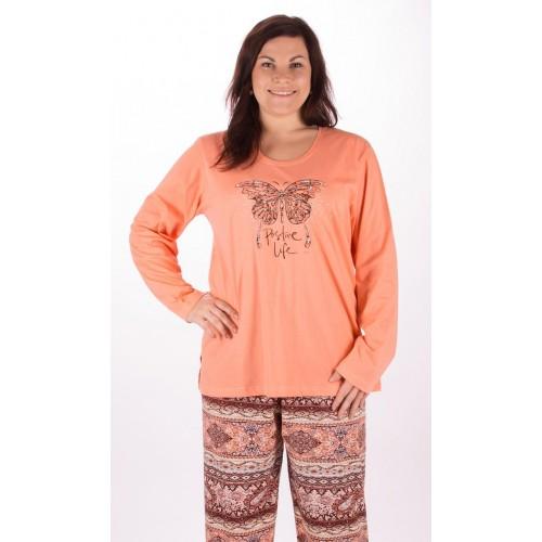 Dámské pyžamo dlouhé Velký motýl