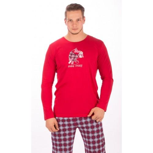 Pánské pyžamo dlouhé Opice s popcornem