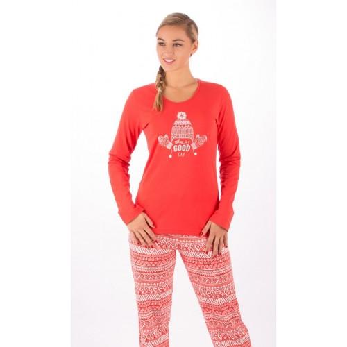 Dámské pyžamo dlouhé Zima
