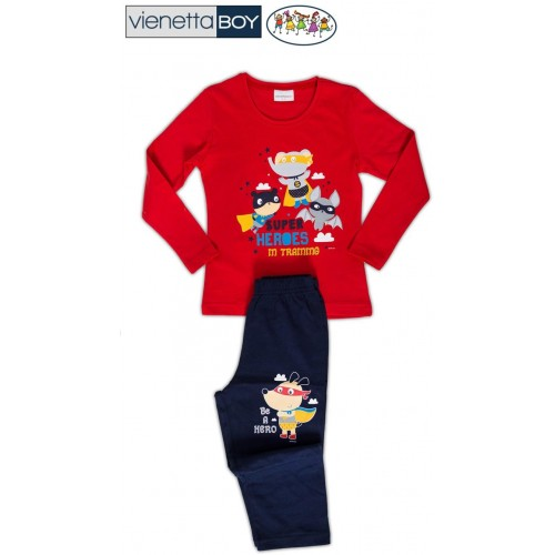 Dětské pyžamo dlouhé Superhrdinové