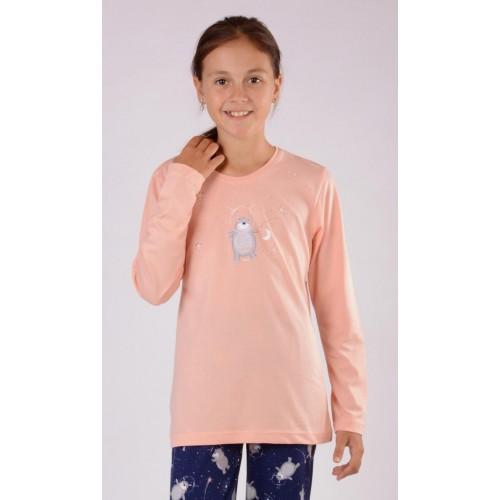Dětské pyžamo dlouhé Méďa a měsíc