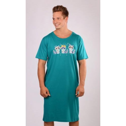 Pánská noční košile s krátkým rukávem Mývalové