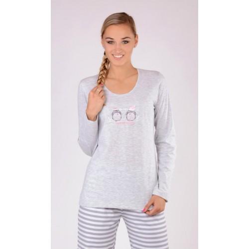 Dámské pyžamo dlouhé Tučňáci