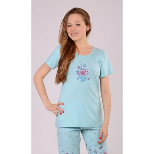 Dámské pyžamo kapri Květy