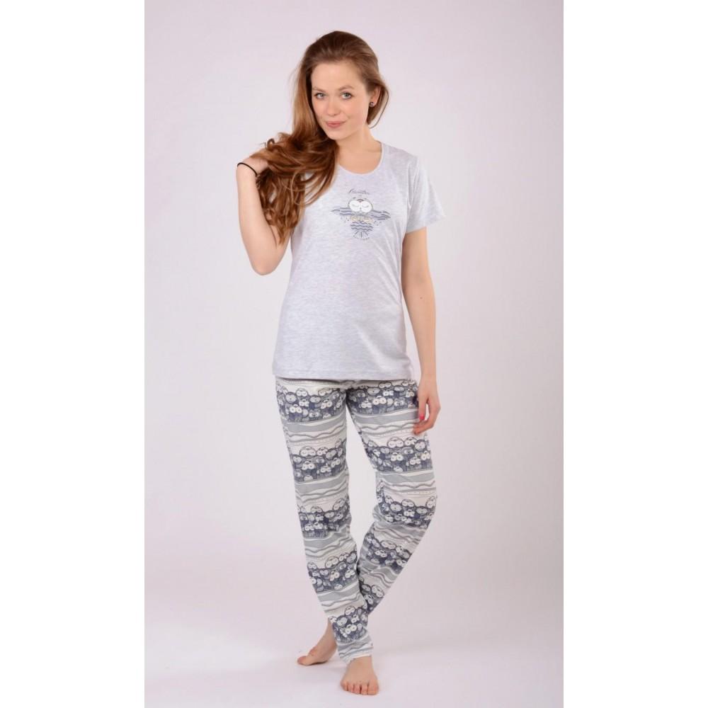 e529ca64e692 Dámské pyžamo s krátkým rukávem Malé sovy