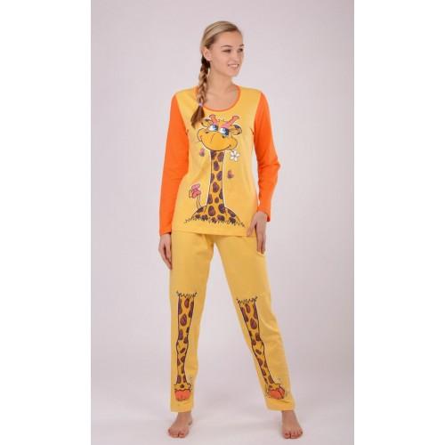 Dámské pyžamo dlouhé Velká žirafa