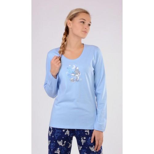 Dámské pyžamo dlouhé Liška