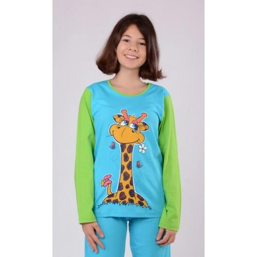 Dětské pyžamo dlouhé Žirafa