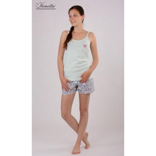 Dámské pyžamo šortky na ramínka Karolína