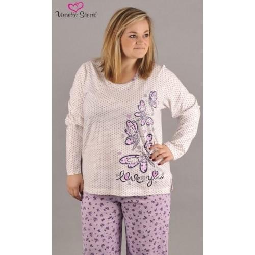 Dámské pyžamo dlouhé Motýl Love