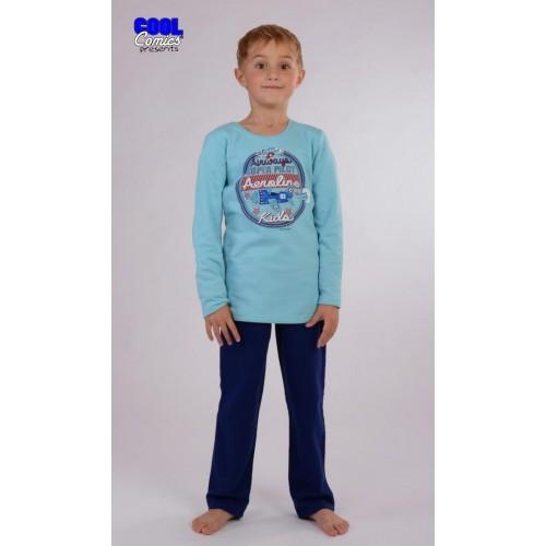 Dětské pyžamo dlouhé zateplené Letadlo
