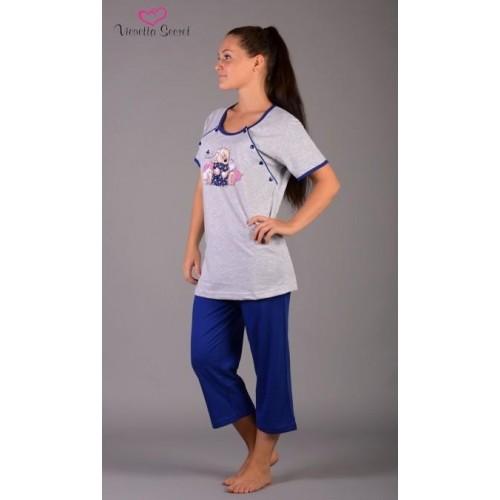 Dámské pyžamo kapri mateřské Méďa a polštář