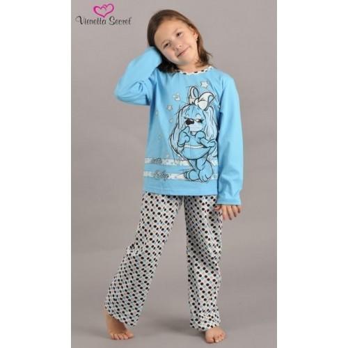 Dětské pyžamo dlouhé Pes v šatech