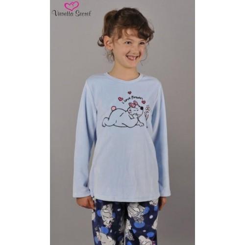 Dětské pyžamo dlouhé Méďa na louce
