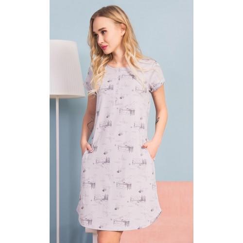 Dámské domácí šaty s krátkým rukávem Lydie