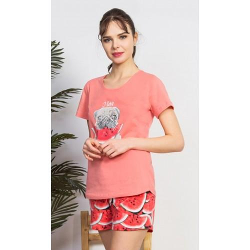 Dámské pyžamo šortky Pes s melounem