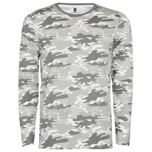 Vojenské tričko RY Dlouhý rukáv - Military pánské Grey