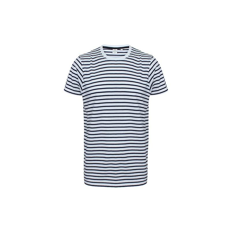 Pruhované tričko Bílo-modré SF - unisex
