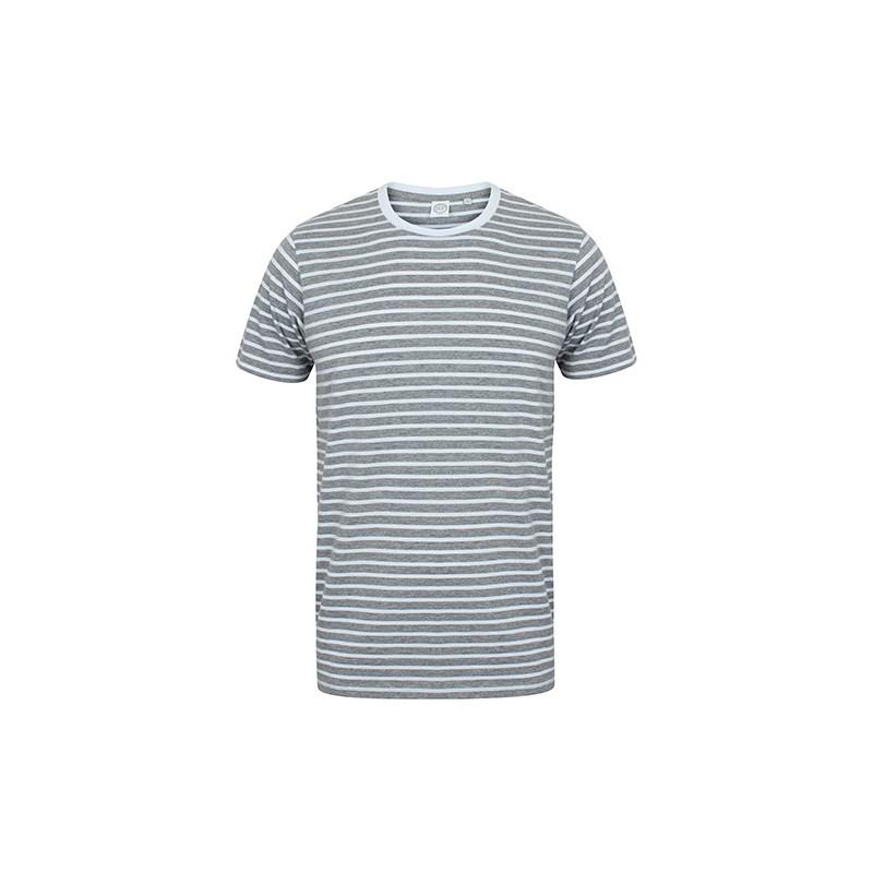Pruhované tričko Bílo-šedé SF - unisex