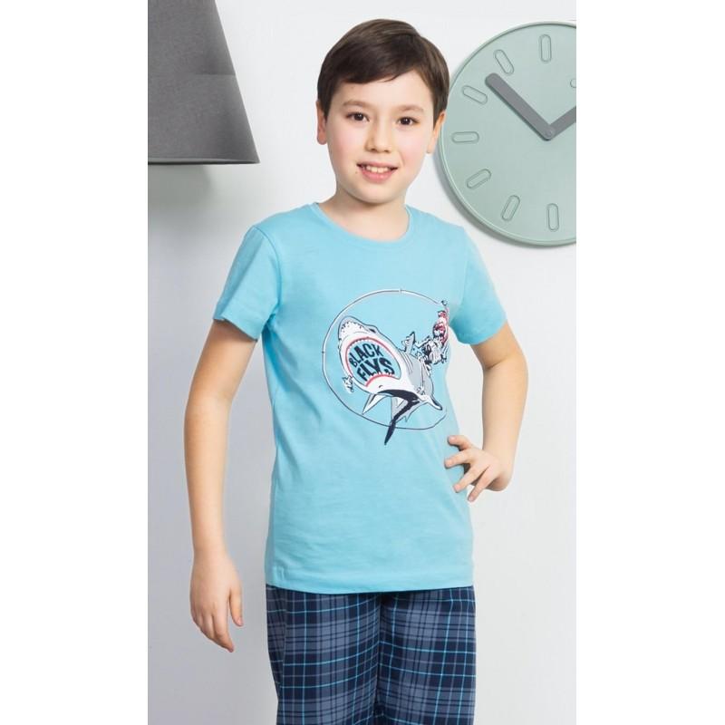 Dětské pyžamo kapri Žralok a kostlivec