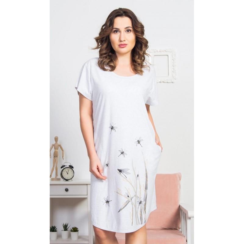 Dámské domácí šaty s krátkým rukávem Vážky