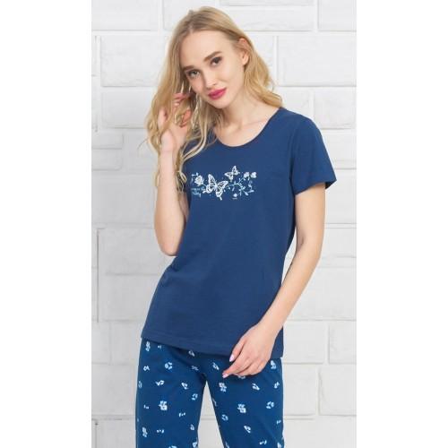 Dámské pyžamo kapri Motýli a růže