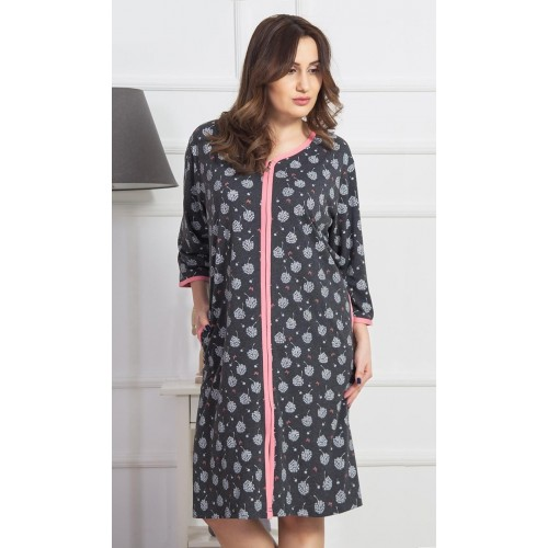 Dámské domácí šaty s tříčtvrtečním rukávem Pampelišky