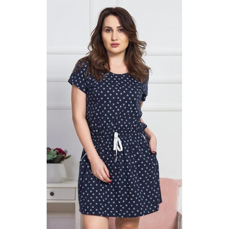 Dámské domácí šaty s krátkým rukávem Hana