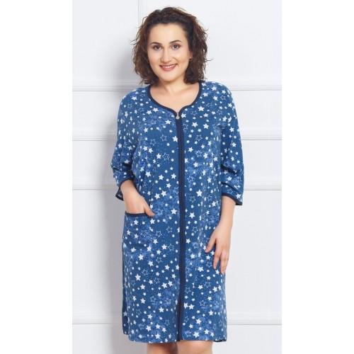 Dámské domácí šaty s tříčtvrtečním rukávem Hvězdičky