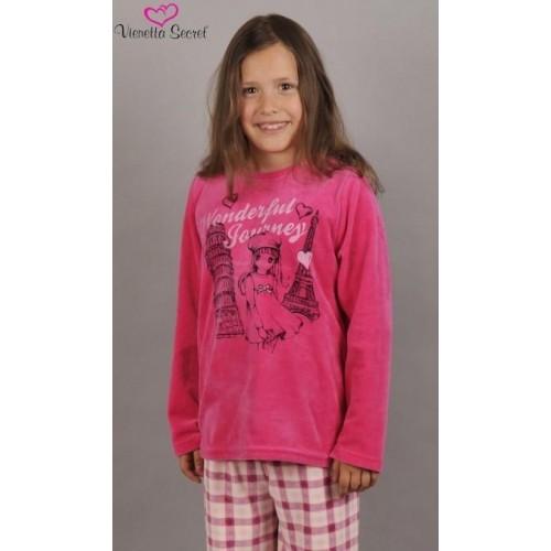 Dětské pyžamo dlouhé Dívka na cestách