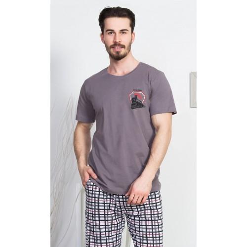 Pánské pyžamo kapri Vlak